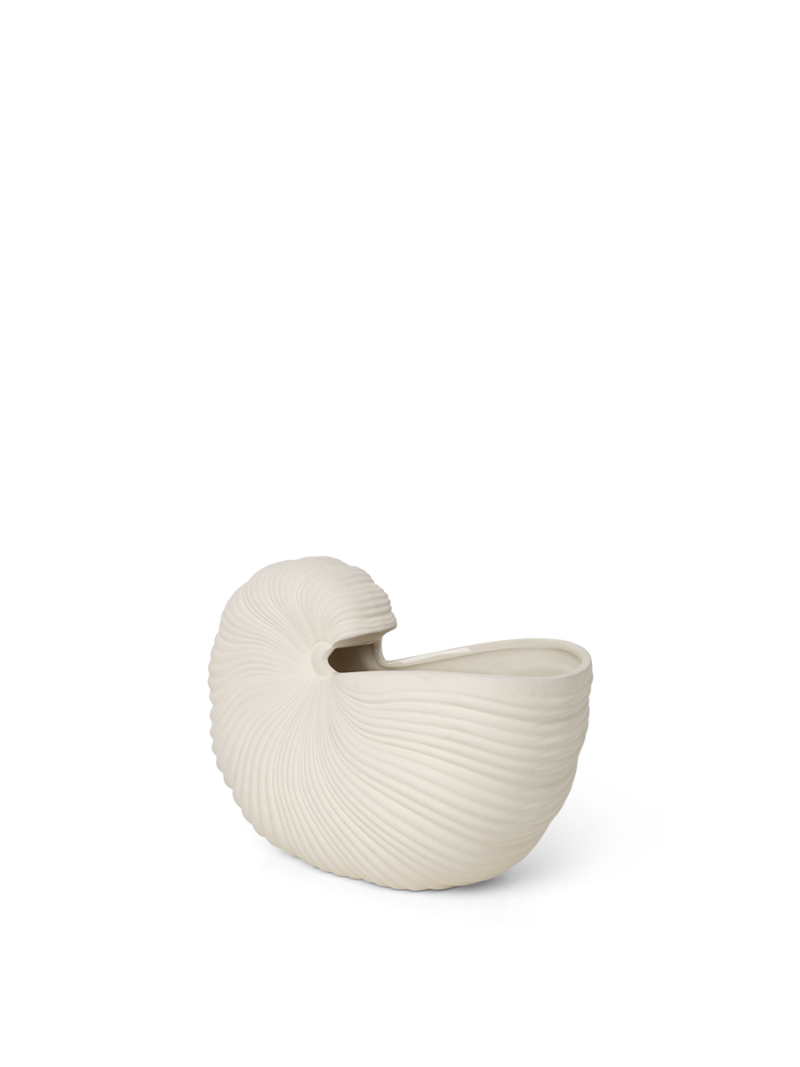ferm living shell pot off white