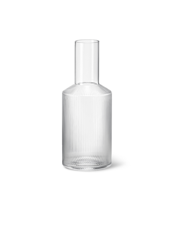 ferm living ripple carafe clear
