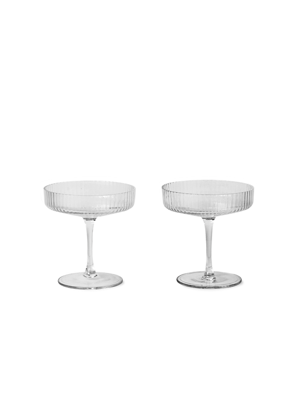 ferm living ripple champagne saucer clear set of 2