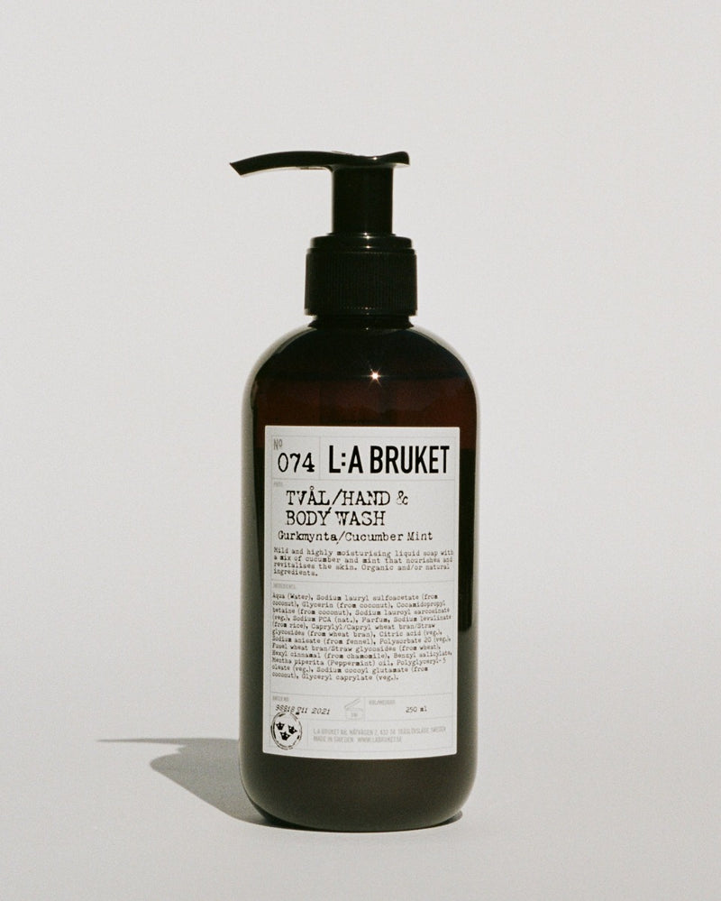 no.74 lilla bruket liquid soap cucumber mint 240ml