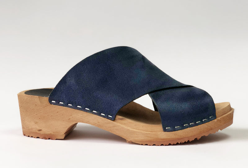 650 jonna clog low navy suede