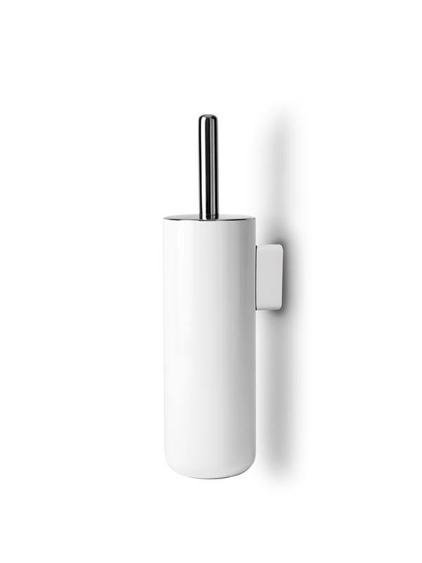 menu toilet brush wall white