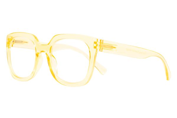 reading glasses magda transparent golden