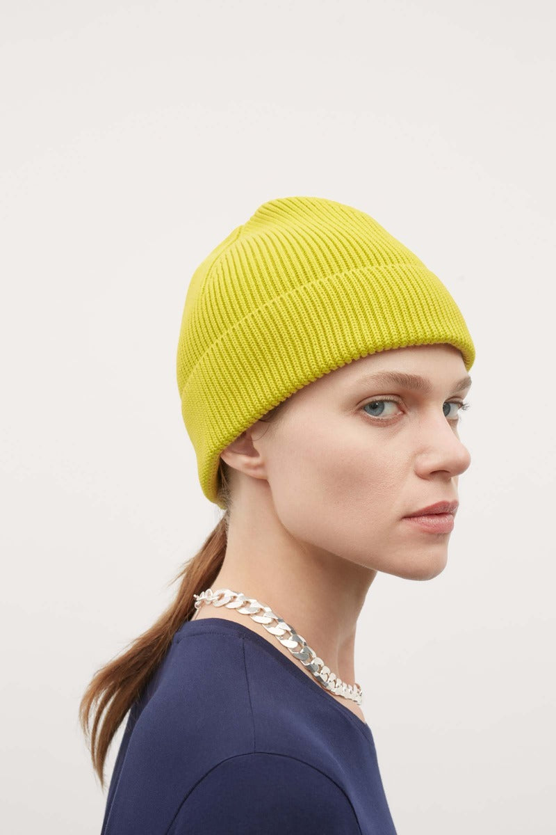 kowtow beanie acid yellow