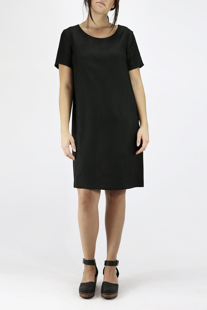 funkis blomma dress black