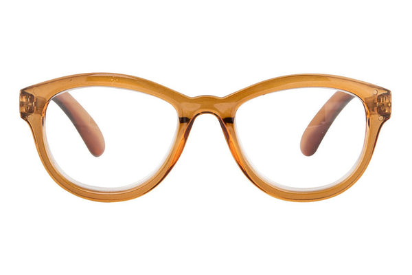 reading glasses flora transparent light brown