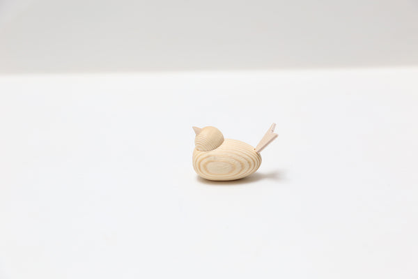 wooden bird 4.5cm natural