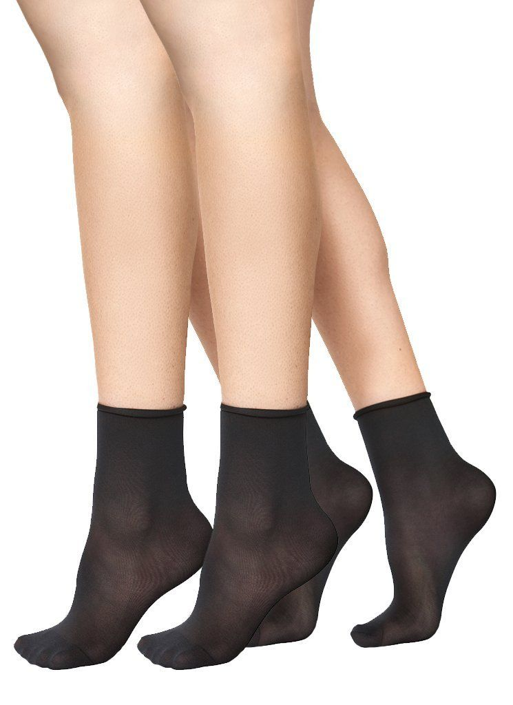swedish stockings judith premium socks 2 pack black/black one size