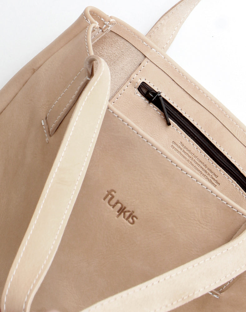 funkis leather bag leif natural