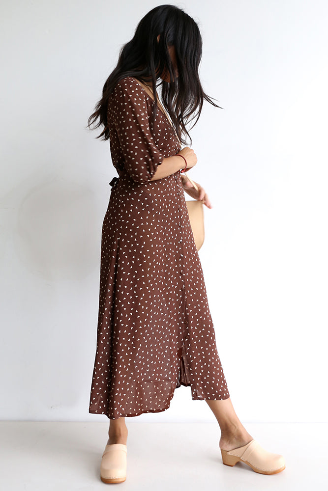 funkis emelie dress brown cream
