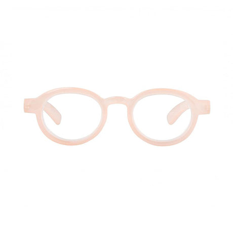 reading glasses round frame melba milky nude
