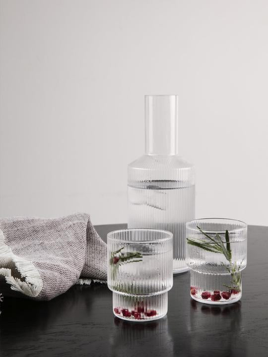 ferm living ripple glass clear set of 4