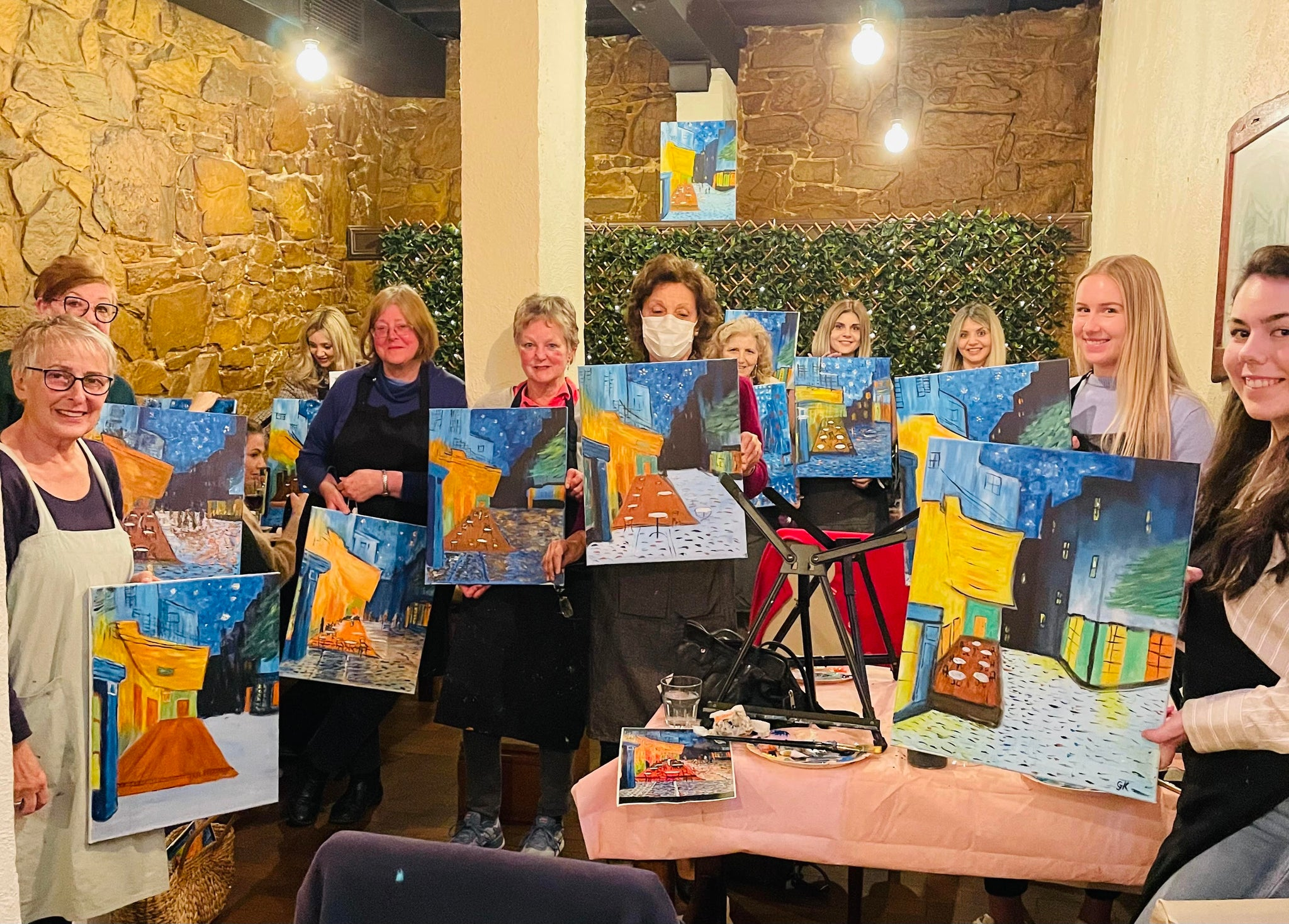 Paint and Sip Adelaide Hills, Paint and wine