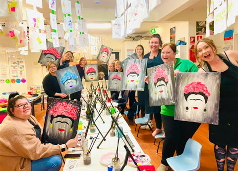 Private Paint and Sip, Private Painting Workshop, Corporate Painting, Paint and Wine, Frida Paint and Sip