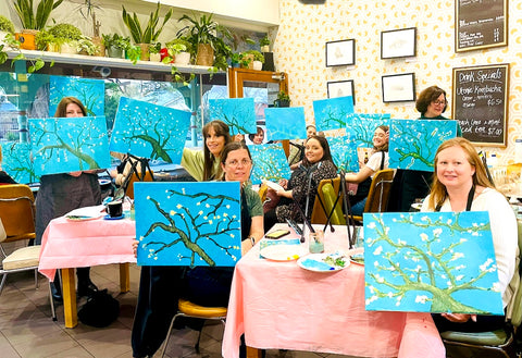 Private Paint and Sip, Painting workshop, Hens night, hens party, painting workshop, Corporate Paint and Sip, Paint and Wine