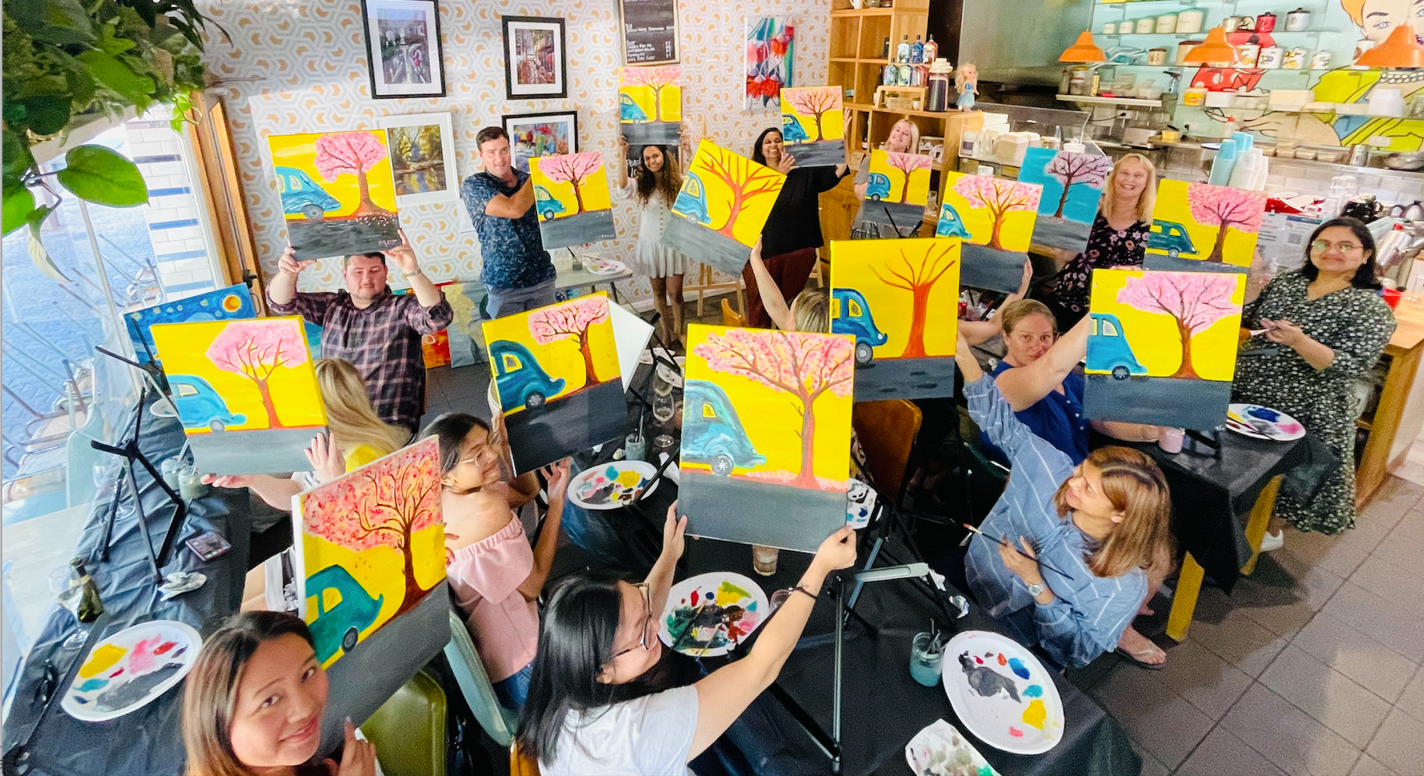 Paint and Sip Adelaide The Pantry on Egmont