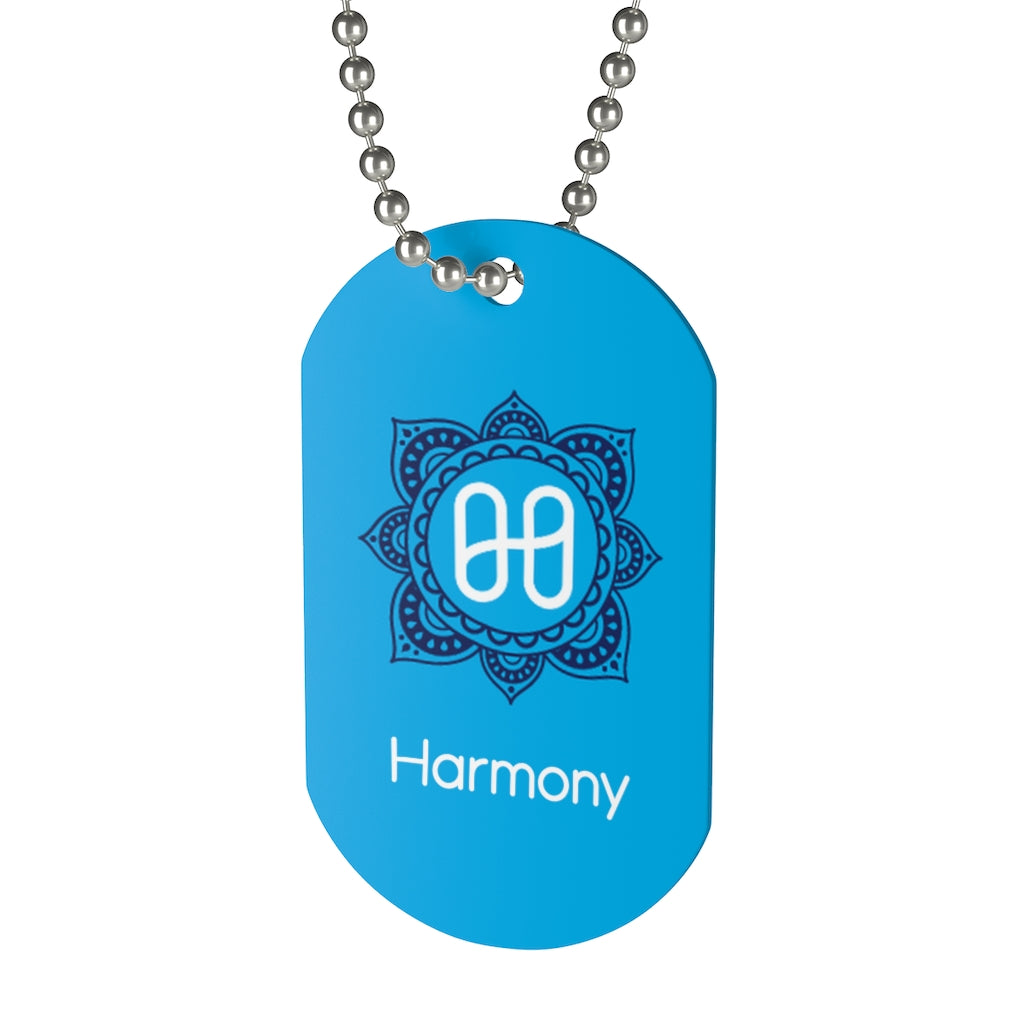 Harmony Blue Mandala Dog Tag