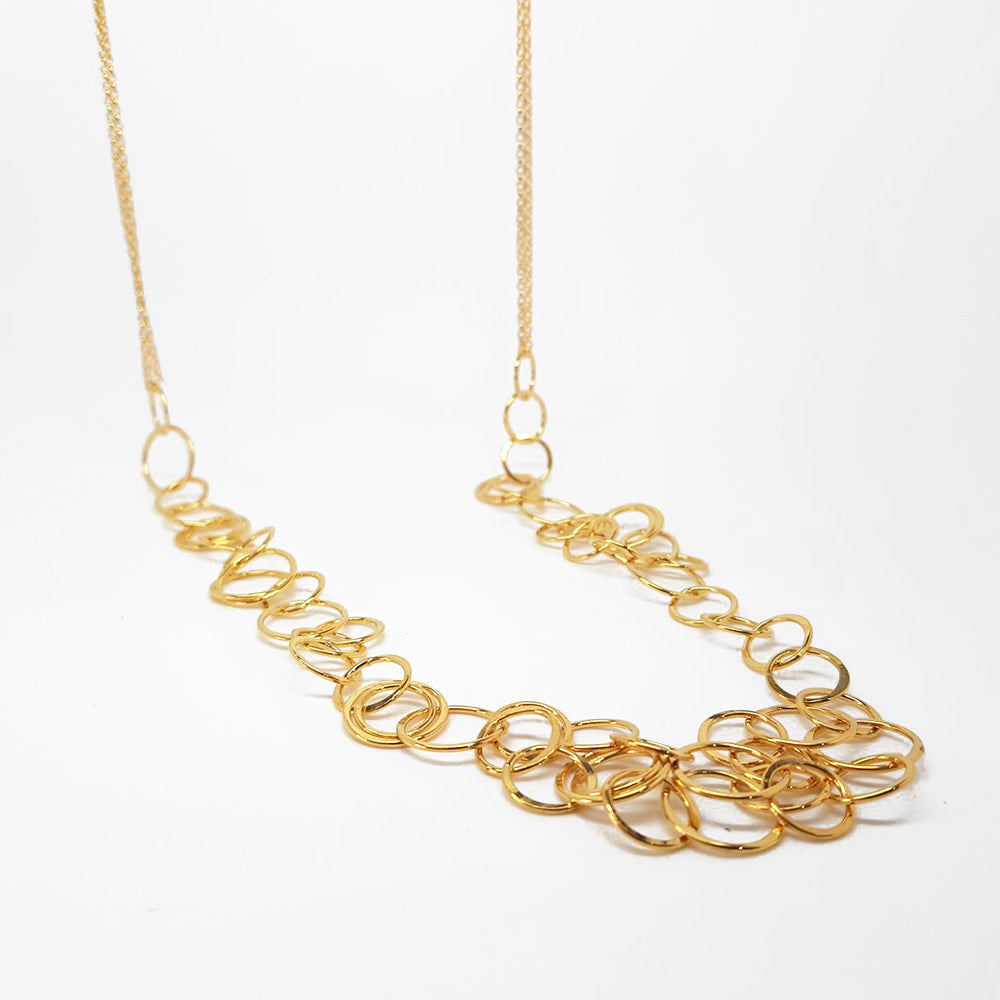 Waterfall Necklace -  Gold Plate