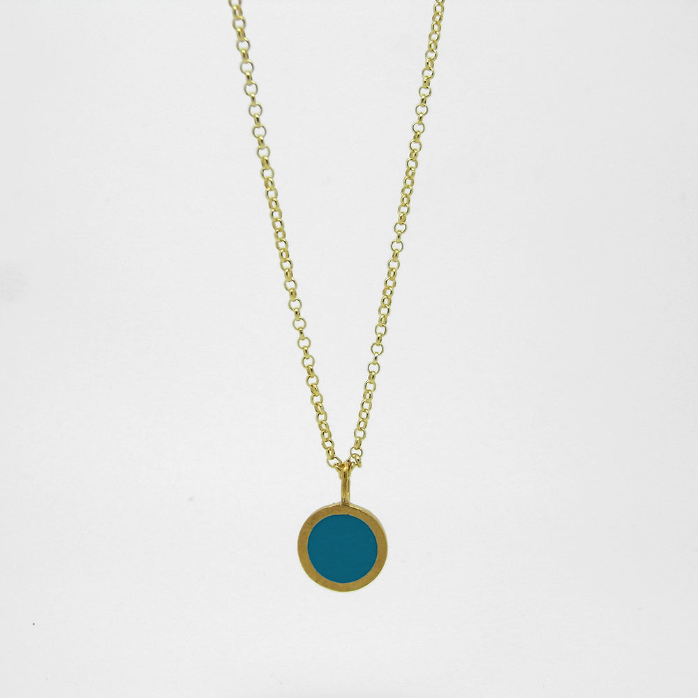 Gold Dot Resin Plated Necklace