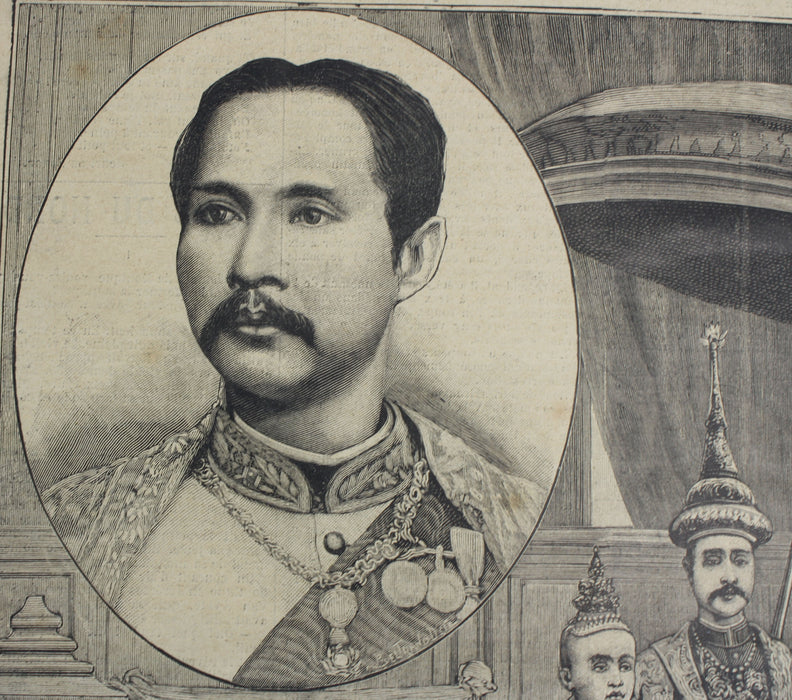 Le Petit Parisien, Supplement Litteraire Illustre, No. 450, 1897, Siam, King Chulalongkorn I (King Rama V)