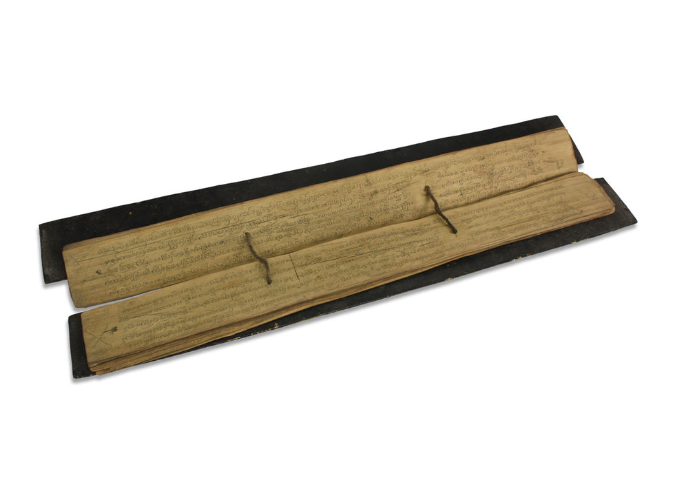 Ancient Lanna language Thai Buddhist Palm Leaf manuscript