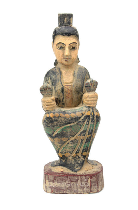 Burmese Nat, seated figurine - Amay Yay Yin also known as Yeyin Kadaw or Amay Gyi