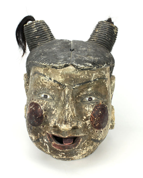 Traditional Vintage Burmese Puppet Head, extra large size