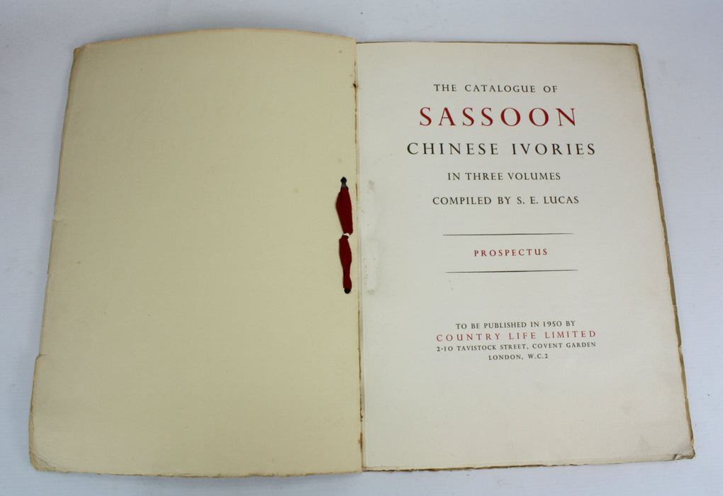 Catalogue of the Sassoon Chinese Ivories, Prospectus
