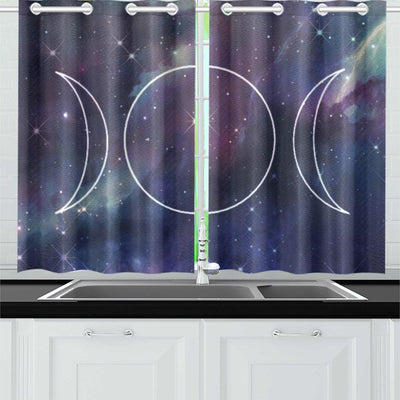 "Triple moon wicca Window Curtain Kitchen Curtain 26"" X 39"" e-joyer"