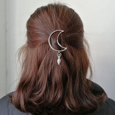 Wicca crescent moon Goddess hair pin Hair pin MoonChildWorld 2