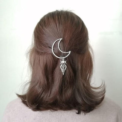 Wicca crescent moon Goddess hair pin Hair pin MoonChildWorld 3