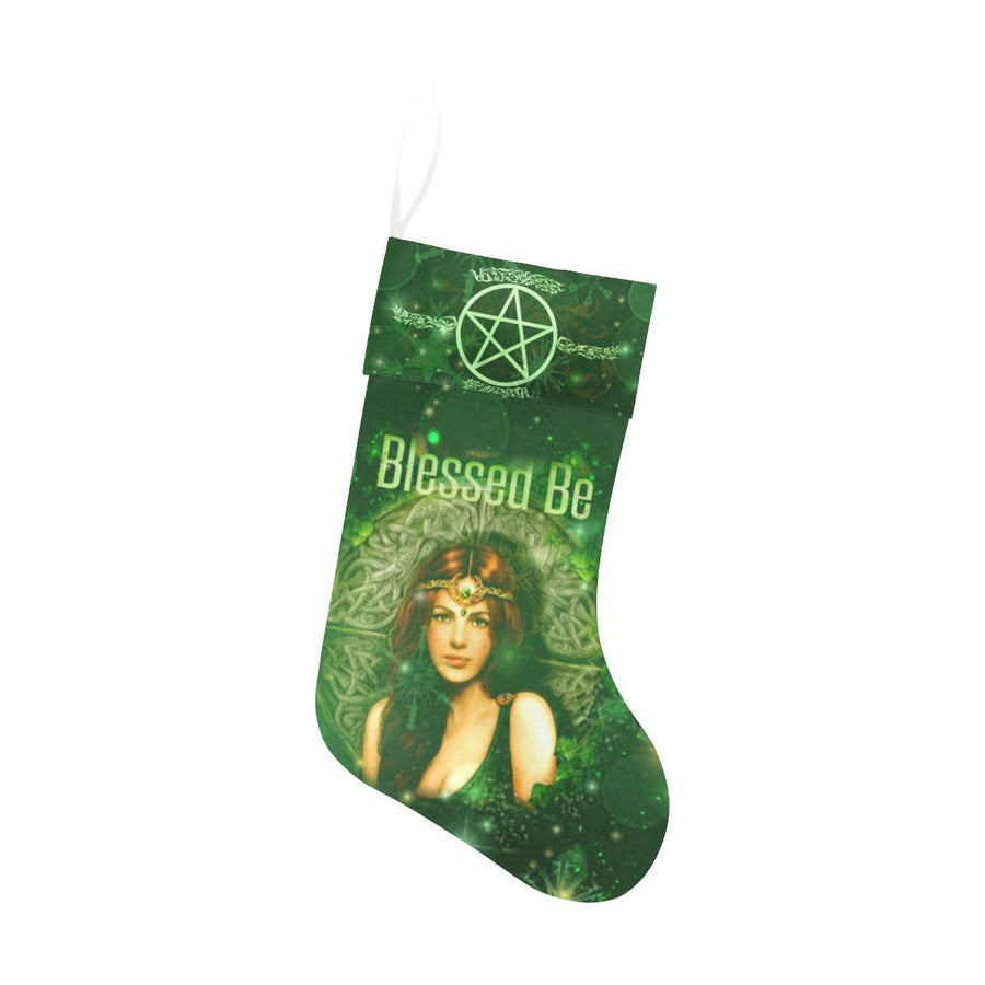 Blessed be wicca Christmas Stocking Christmas Stocking e-joyer