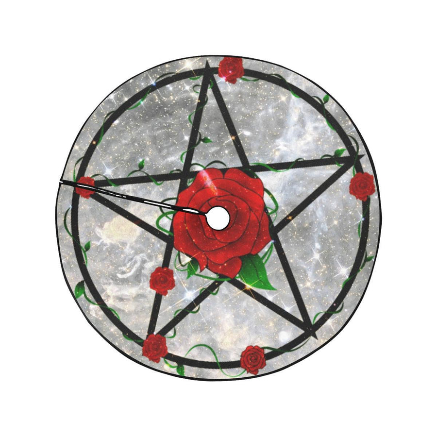 Rose pentacle Christmas Tree Skirt Christmas Tree Skirt e-joyer