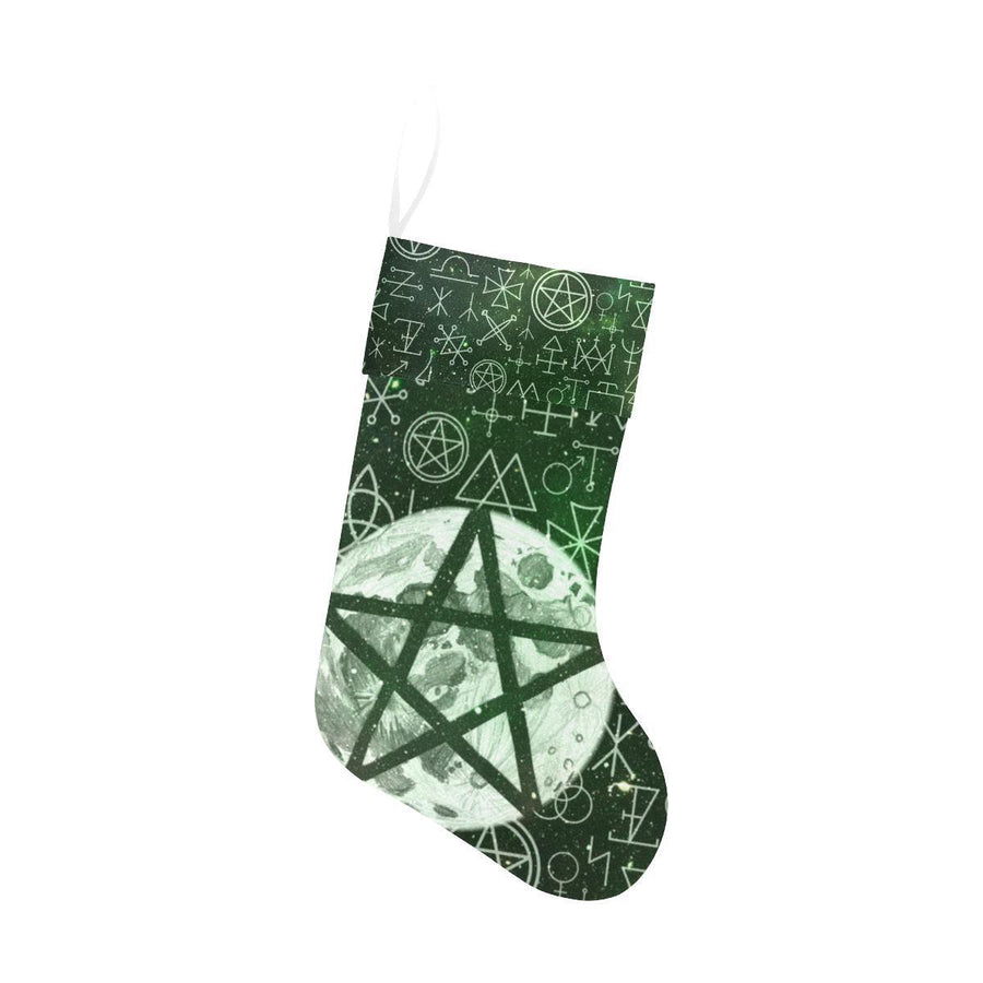 Pentagram wicca Christmas Stocking Christmas Stocking e-joyer