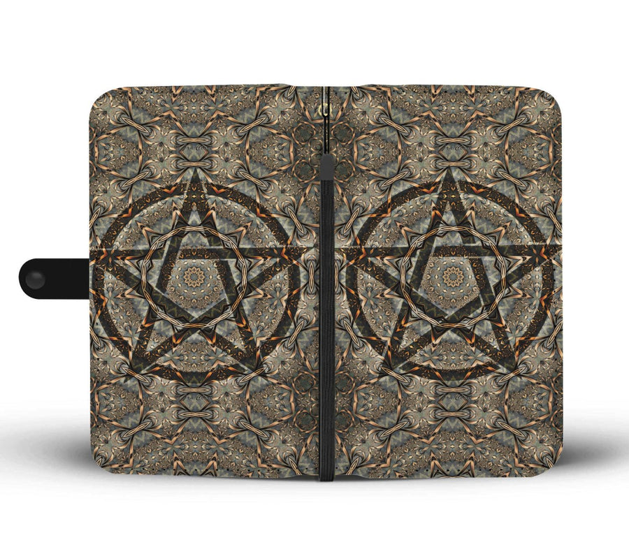 Pentacle wicca Wallet case Wallet Case wc-fulfillment