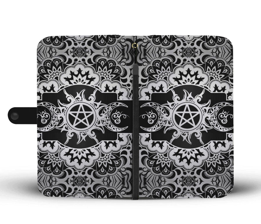 Triple moon wicca wallet case Wallet Case wc-fulfillment