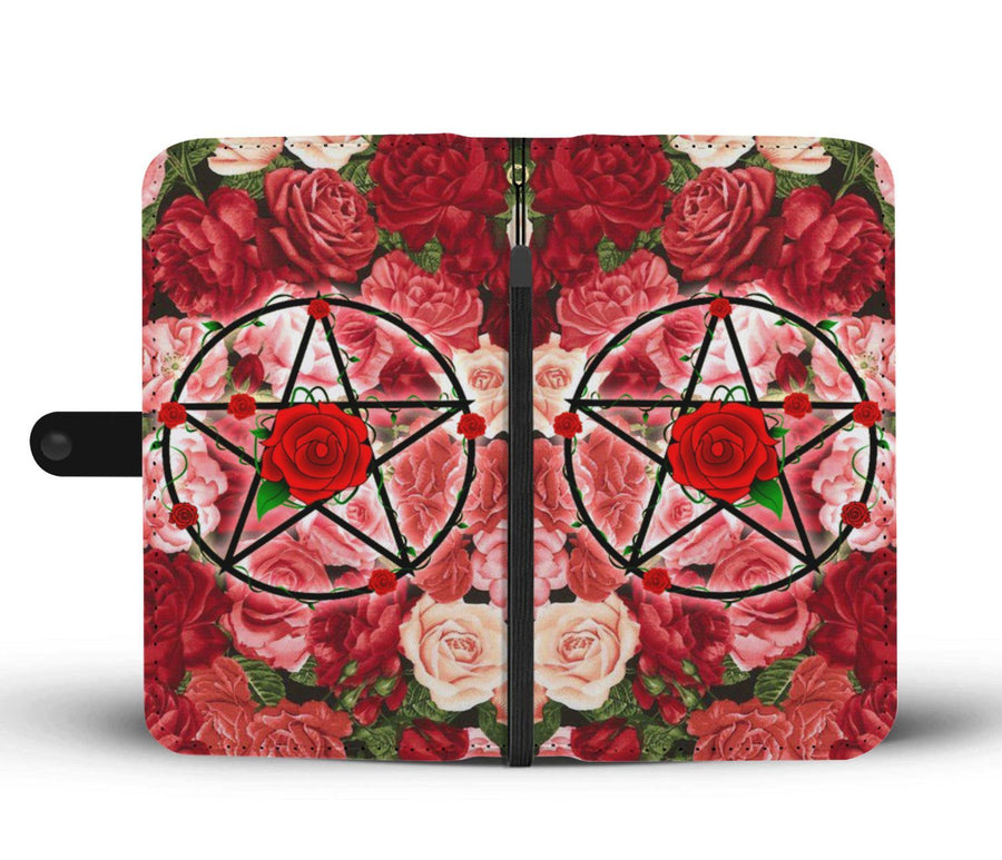 Pentacle rose wicca wallet case Wallet Case wc-fulfillment