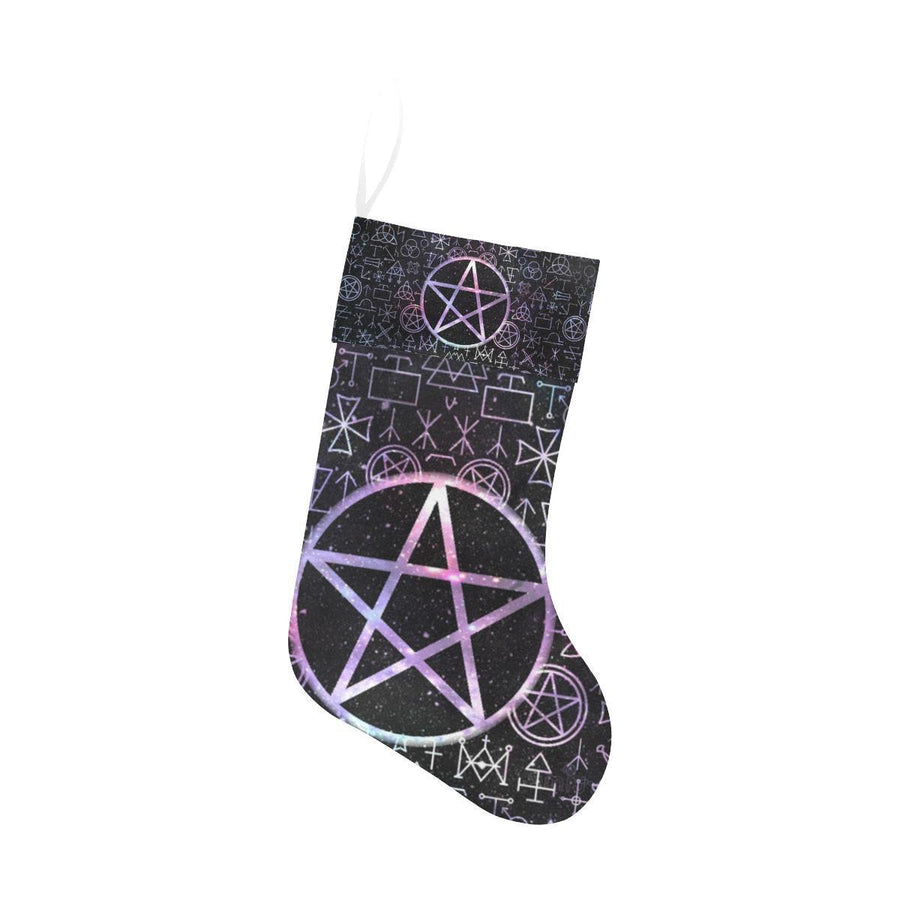 Pentacle wicca Christmas Stocking Christmas Stocking e-joyer