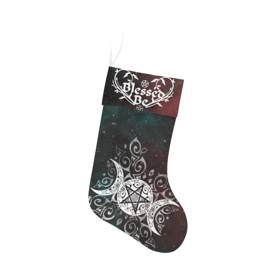 Triple moon wicca Christmas Stocking Christmas Stocking e-joyer