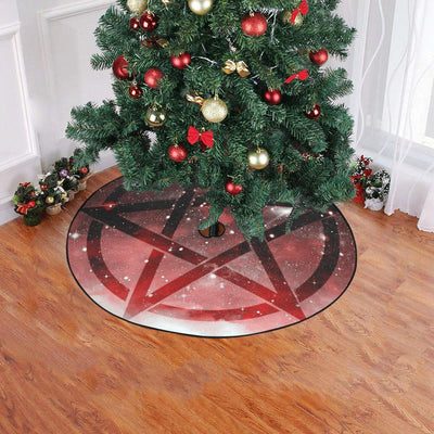 Pentacle wicca Christmas Tree Skirt Christmas Tree Skirt e-joyer