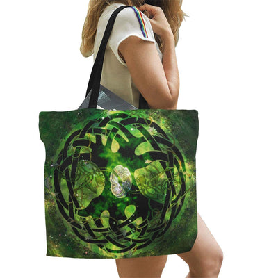 Tree of life pagan wicca Tote Bag All Over Print Canvas Tote Bag/Large (1699) e-joyer