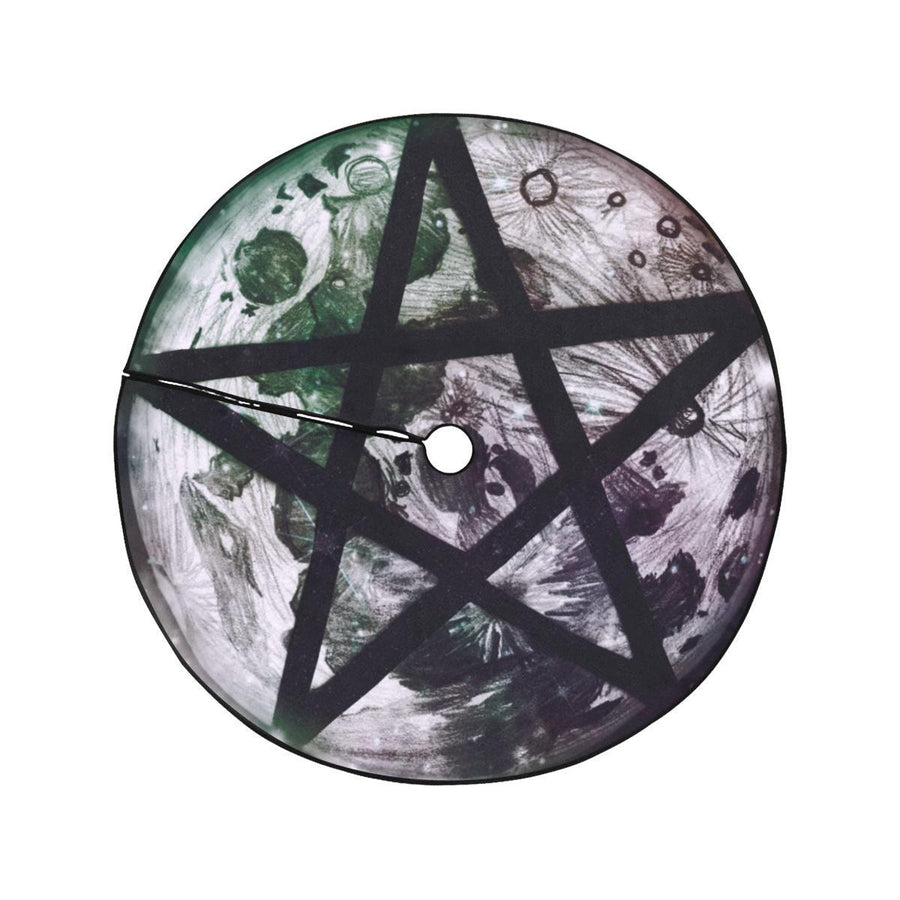 Moon pentacle Christmas Tree Skirt Christmas Tree Skirt e-joyer