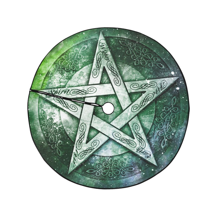 Pentagram wicca Christmas Tree Skirt Christmas Tree Skirt e-joyer