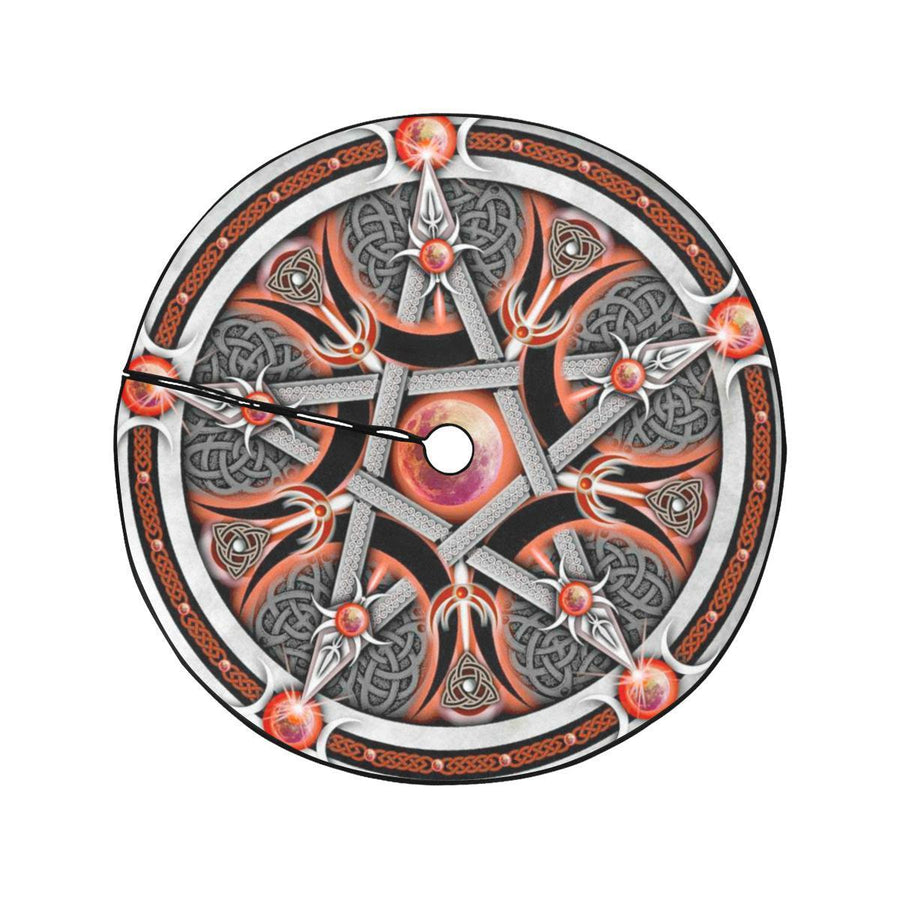 Pentacle Yule Christmas Tree Skirt Christmas Tree Skirt e-joyer