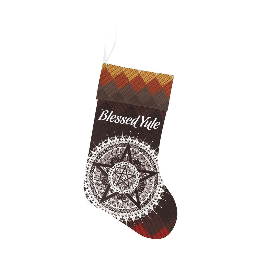 Blessed Yule Christmas Stocking Christmas Stocking e-joyer