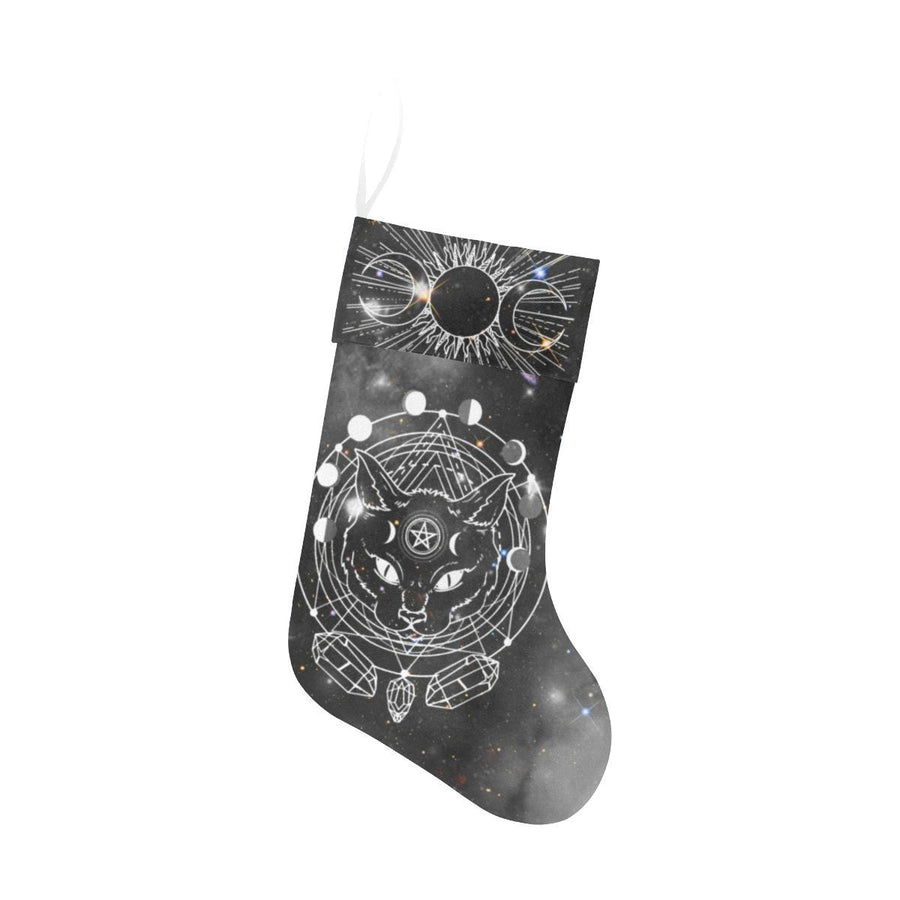 Wicca cat Christmas Stocking Christmas Stocking e-joyer