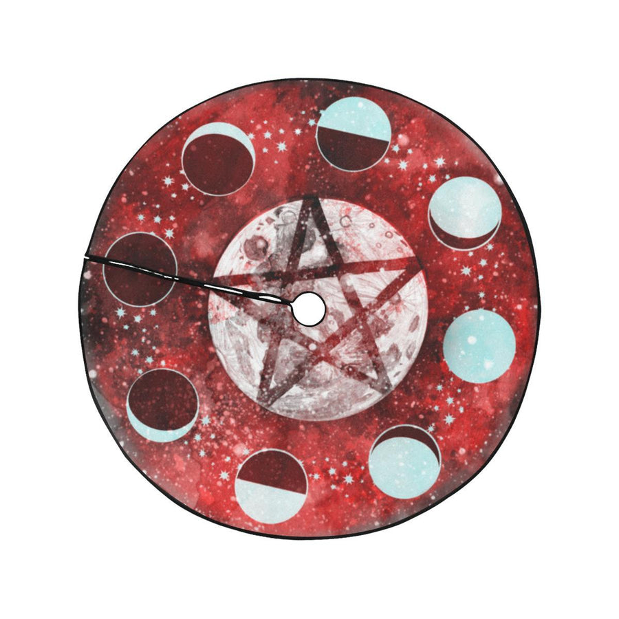 Pentagram moon Christmas Tree Skirt Christmas Tree Skirt e-joyer