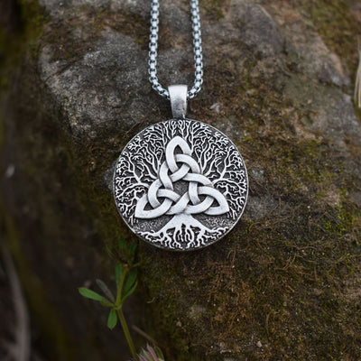 Pagan wicca tree of life celtic necklace