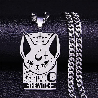 Witch Moon Cat Necklace Necklace MoonChildWorld