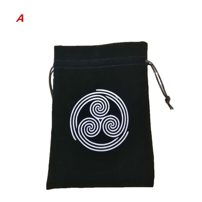 Velvet Pentagram Tarot Card Storage Bag